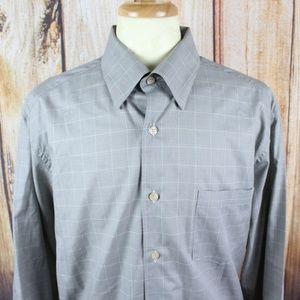 Ermenegildo Zegna Men's Button Shirt XXL Grey